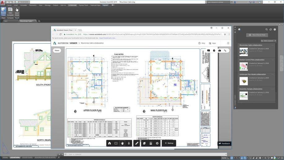 AutoCAD 2019 újdonságok - Megosztott tervezői nézetek