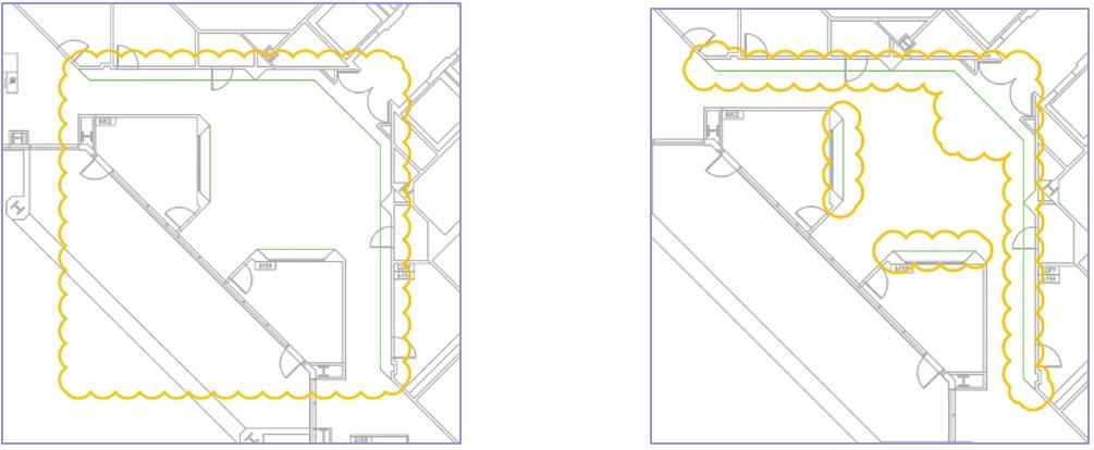 DWG összehasonlítás szűrő - négyszögletes és poligon