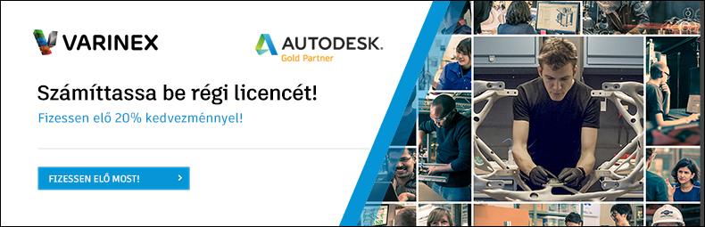 Számíttassa be korábbi Autodesk licencét!