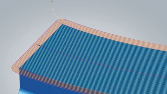 surface extension | 3d profil finishing | hyperMILL 2020.1